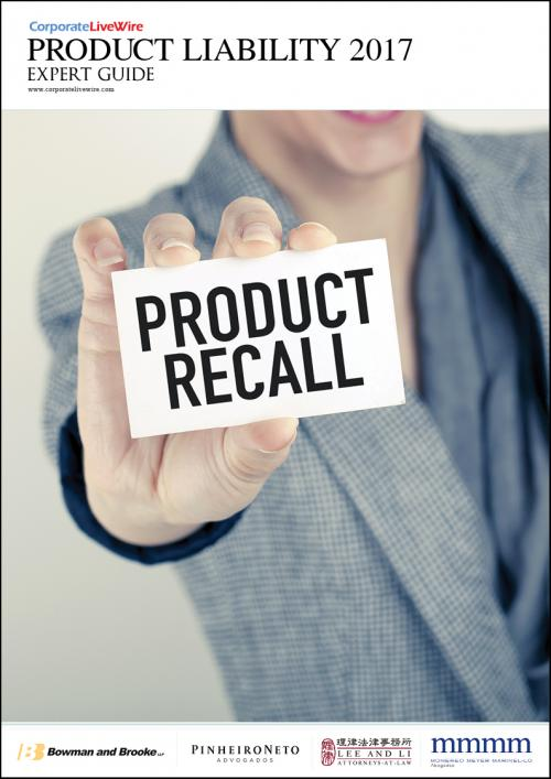 The Product Liability Expert Guide 2017 takes an in-depth look at the lasts trends and regulatory changes in product liability around the world. In this guide we look at the food safety and class action lawsuits in Taiwan, the liability in the internet of things, and product liability around Brazilian drug suppliers. Featured countries are: Brazil, Canada, Spain, Taiwan, United Kingdom, and USA.<br />