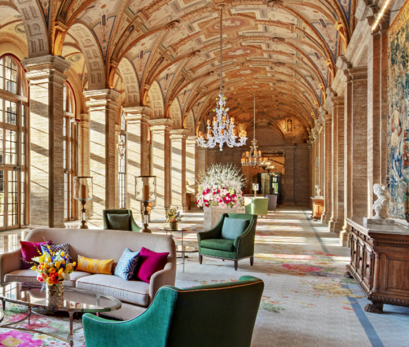 A Makeover Casts The Breakers' Iconic Lobby into Spectacular Bloom