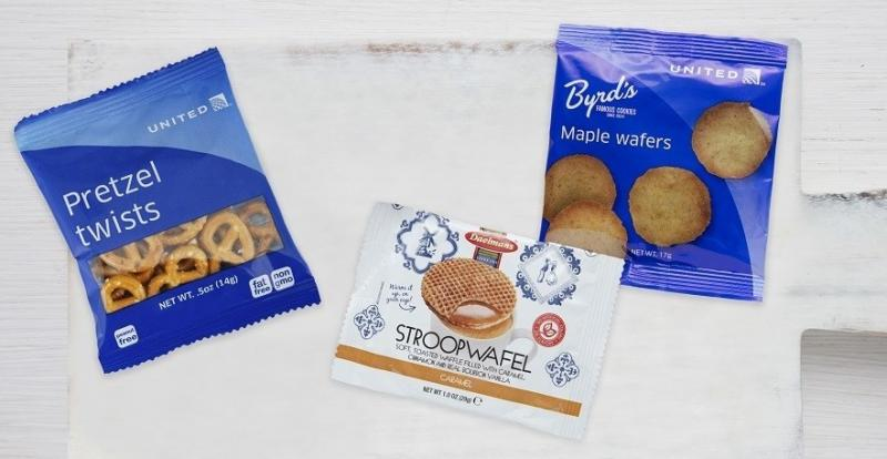 Take your pick! United Airlines' Inflight Snacks, Including the Stroopwafel, Now Available Around the Clock in Economy