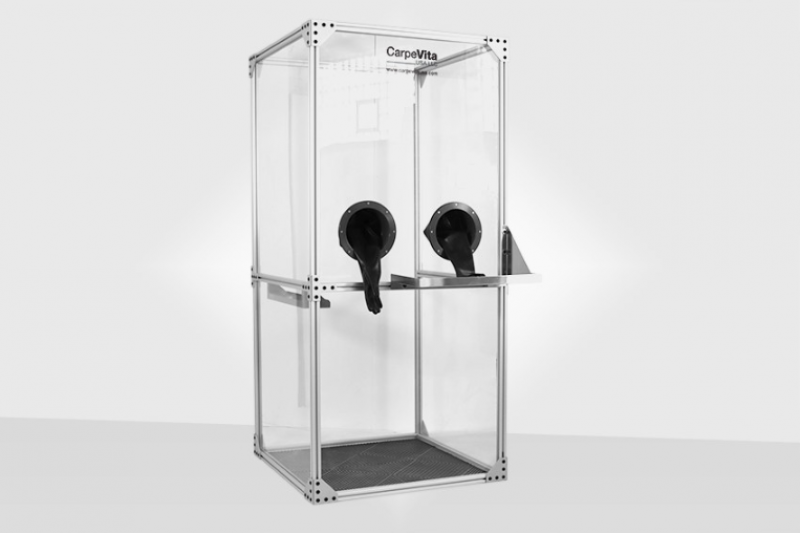 Luxury Manufacturer producing protective booths for COVID-19 test sites