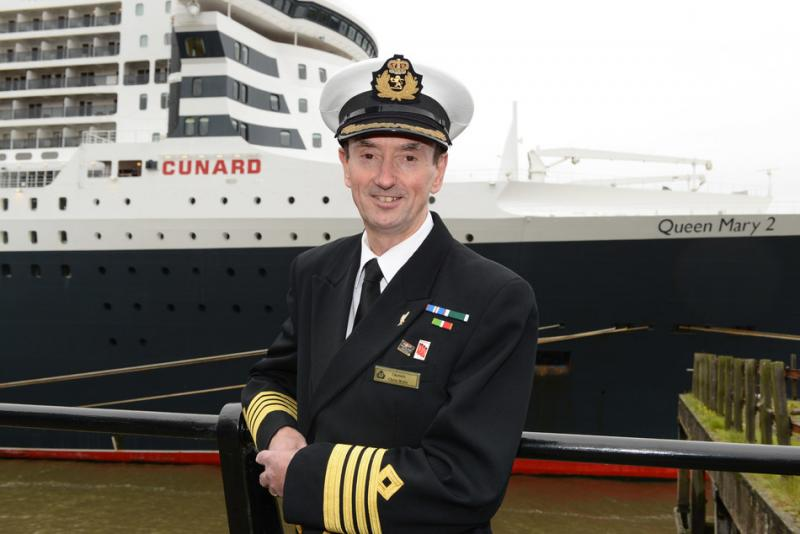 Cunard's Captain Christopher Wells Retires After 20 years With The Line, and Awarded Rank of Commodore