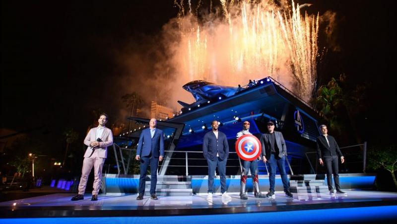 Avengers Assemble At Their New Disneyland Home