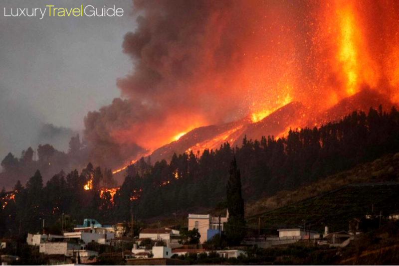 Tourists Evacuated As Lava Spews From Volcano On Spain's La Palma Island