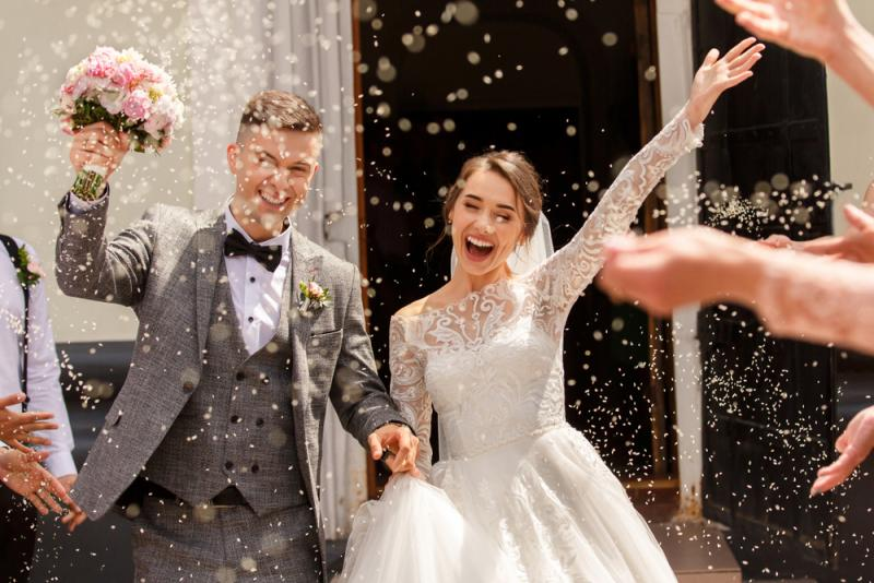 Add Glitz To Your Big Day: 16 Sparkly Wedding Dresses